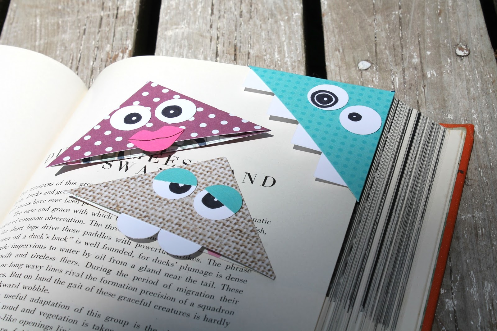 How to make scrapbook at home - These Corner Monster Bookmarks Are So Easy To Make And I Know You Already Have Everything You Need To Create Them At Home