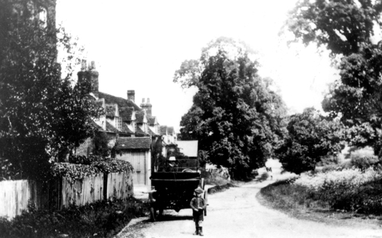 Photograph of Bell Lane, Bell Bar hamlet, c.1910