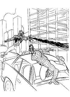 spiderman coloring pages for kids printable free