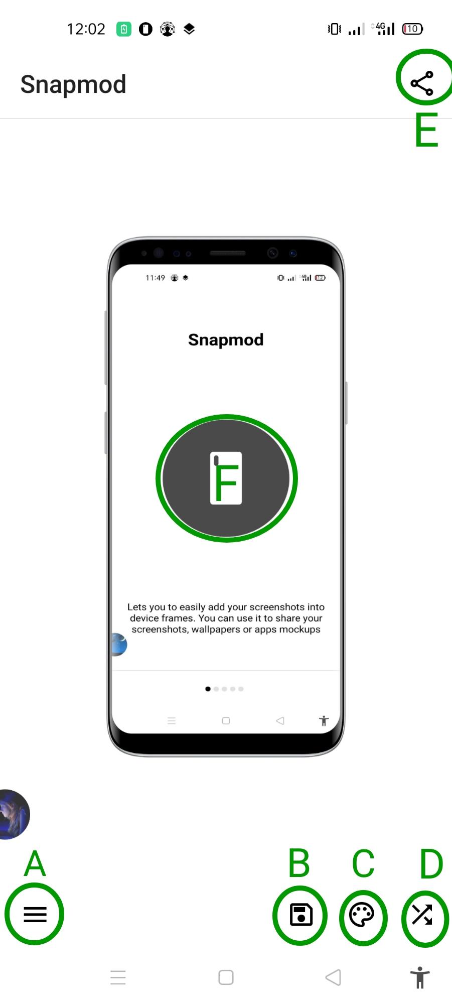 মোবাইলের ফ্রেমে কিভাবে স্কিনসট নিবেন? Screenshots with a device frame.