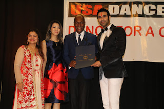 "Sandip Soparrkar awarded for ""Dance for a Cause"" in United States of America"