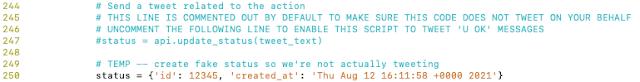 tweet code to uncomment