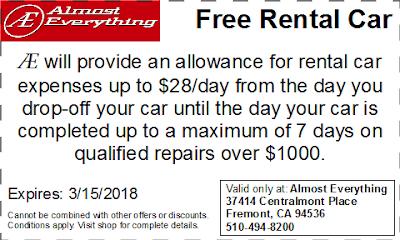 Coupon Free Rental Car February 2018