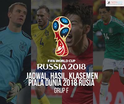 Jadwal, Hasil, dan Klasemen Grup F : Piala Dunia 2018