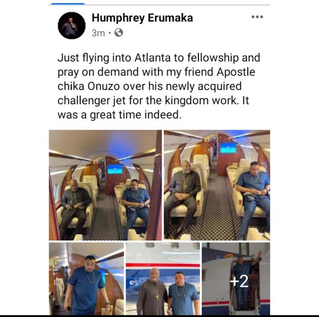Pastor Chika Onuzo buys a  new private jet to promote the work of God
