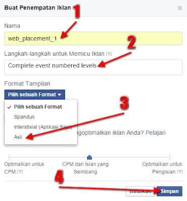 Monetisasi Blog Dengan Menampilkan Iklan Dari Facebook - Penempatan Iklan