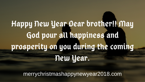 Happy New Year Wishes for Brother and Sister