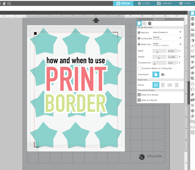 silhouette 101, silhouette america blog, print and cut, printables, troubleshooting