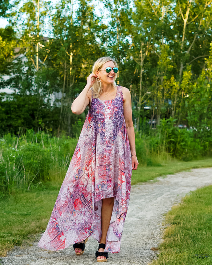 light and airy maxi dress