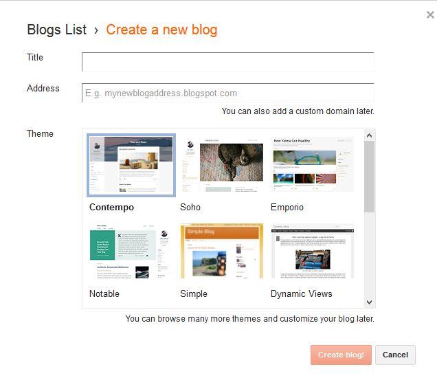 Set title and address of blog