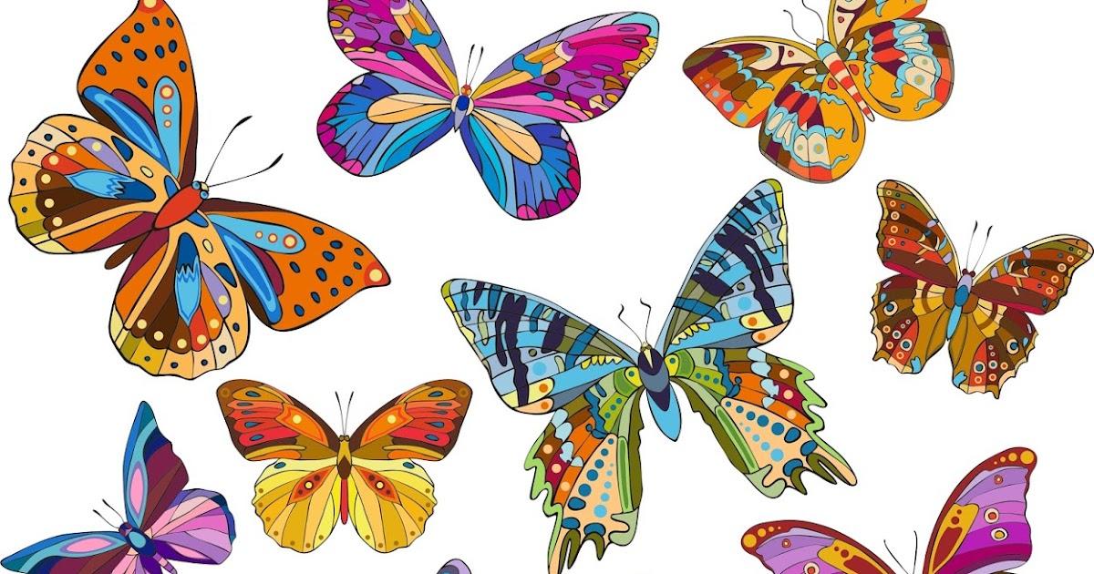 Imagenes De Mariposas De Colores: BANCO DE IMÁGENES: 18 Ilustraciones De Mariposas De