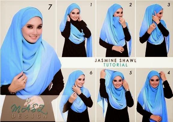 Tutorial jilbab segi empat simple dan cantik