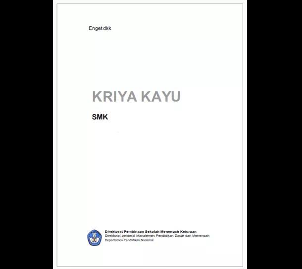 Buku SMK Seni dan Pariwisata Kriya Kayu