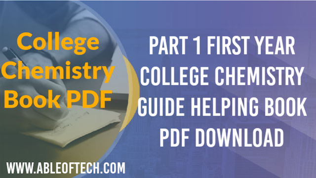 First Year Part 1 College Chemistry Guide/Keybook PDF Download.