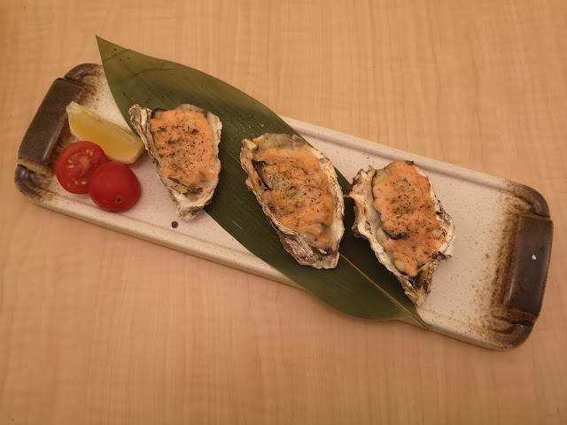 Baked Mentai Yaki Oysters