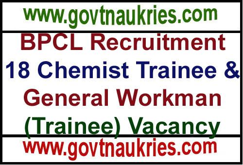 BPCL Recruitment 2019