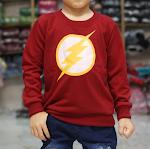 Sweater anak FLASH lucu scoring karakter oshkosh