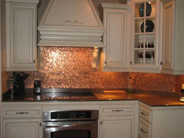 Theo 39 s design blog a penny for your thoughts - Penny tile backsplash kitchen ...