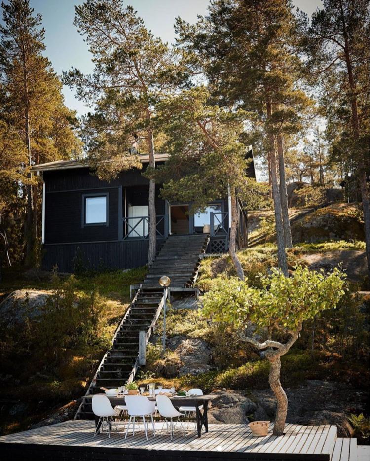 An Idyllic Finnish Summer Cabin on the Water's Edge