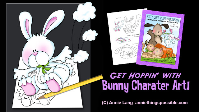 Learn how to draw a Silly Bunny with Annie Lang's bunny character art video