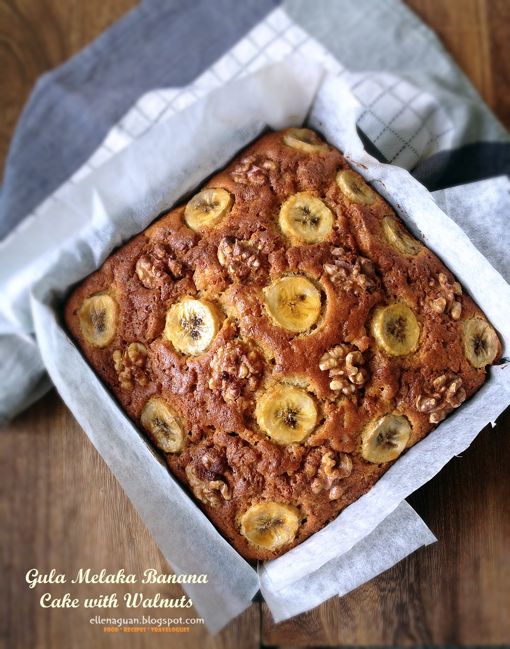 Recipe Gula Melaka Banana Cake With Walnuts