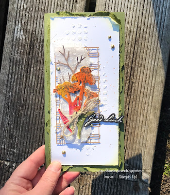 mixed media card with embossing texture paste stampin up nature's harvest stamp die bundle for totally techniques blog hop uk demo card making
