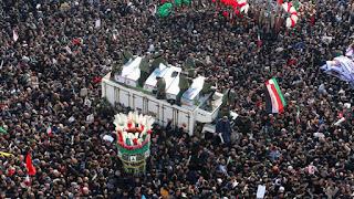 56 Orang Tewas Terinjak-injak dalam Pemakaman Qassem Soleimani