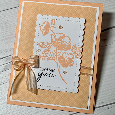 Monochromatic floral greeting card using Stampin' Up! Shaded Summer