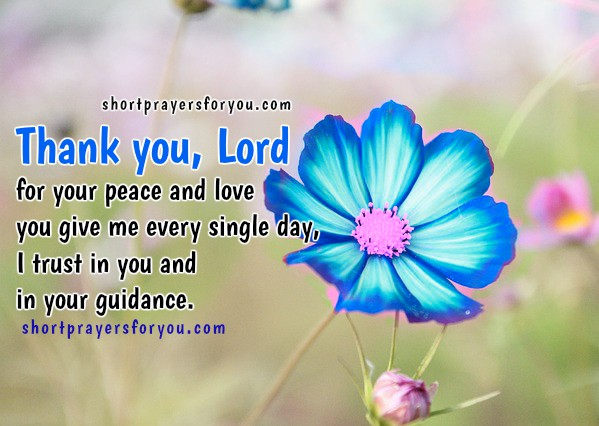 Short Christian Prayer Thank You Lord For Love, Free Image, Christian Quotes  By Mery