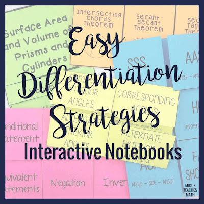 These differentiation strategies in the classroom are perfect for middle school and high school students. I use these ideas in secondary math, but they would even work in elementary.