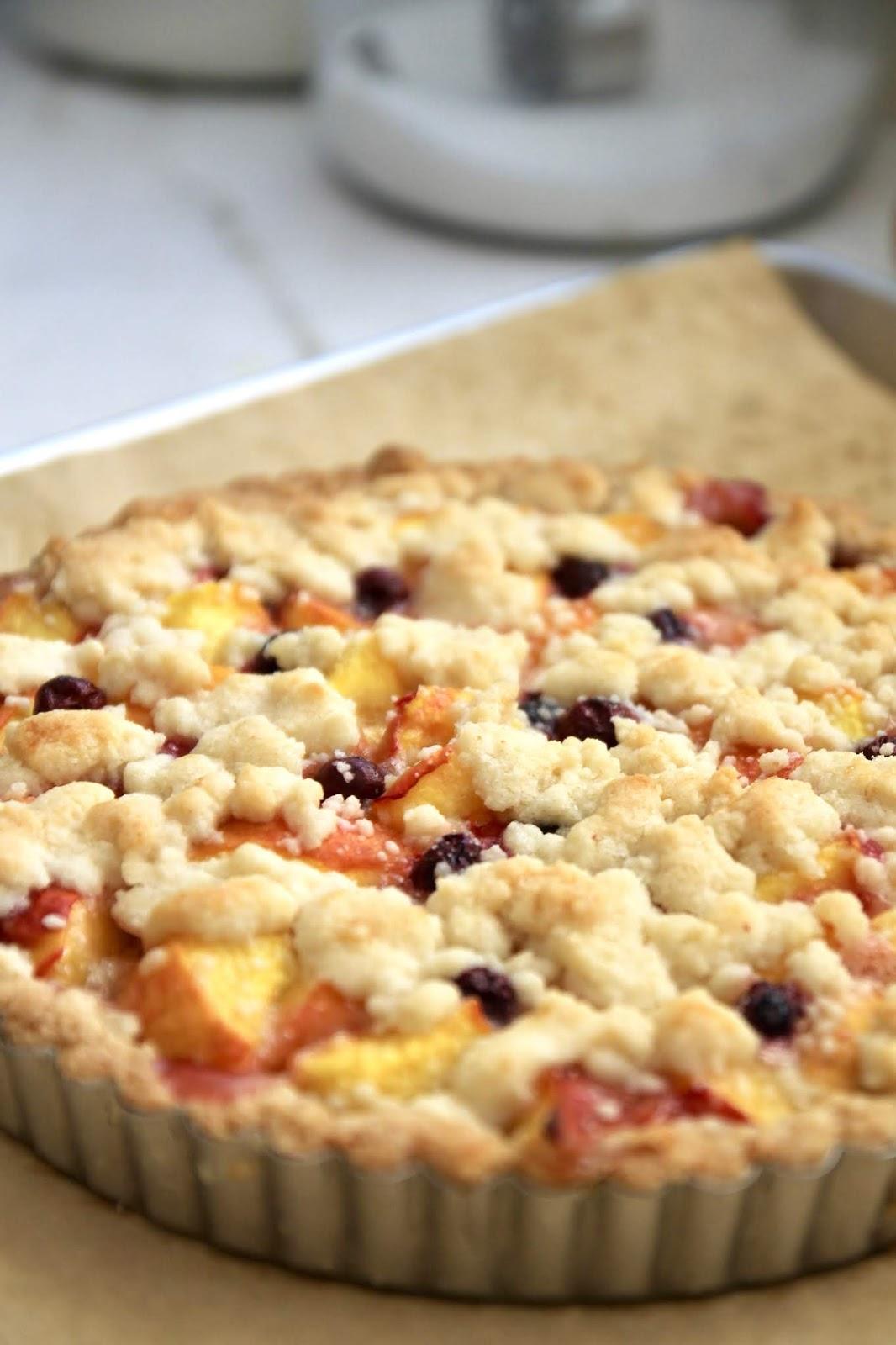 Jenny Steffens Hobick: Peach & Blueberry Crumble Tart