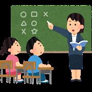 小学校の授業のイラスト(女性教師)