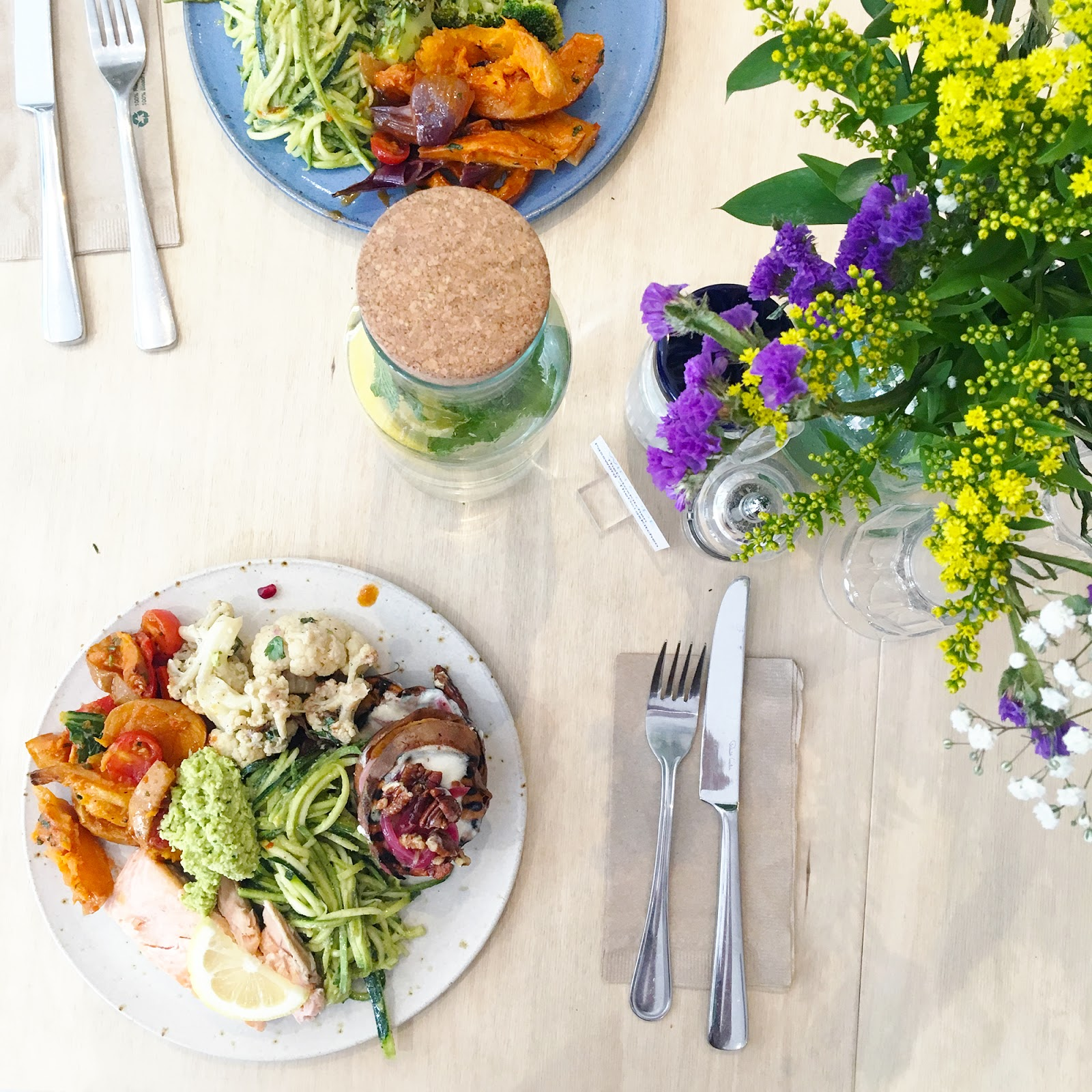 Lunch salads at the detox kitchen in London