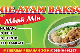 Template Desain Banner Warung Mie Ayam Bakso CDR