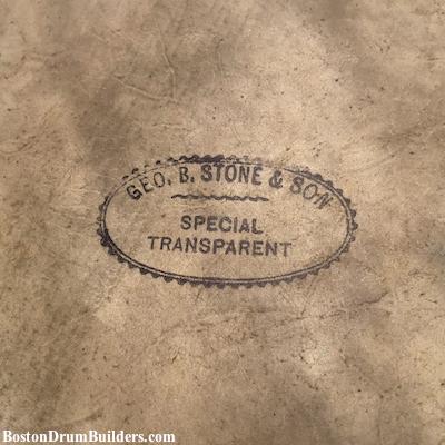 1910s Geo. B. Stone & Son Drum Head