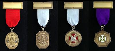 Scottish Rite Past Presiding Officer Jewels