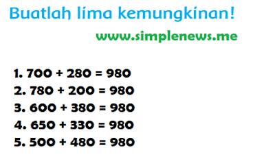 Buatlah lima kemungkinan www.simplenews.me