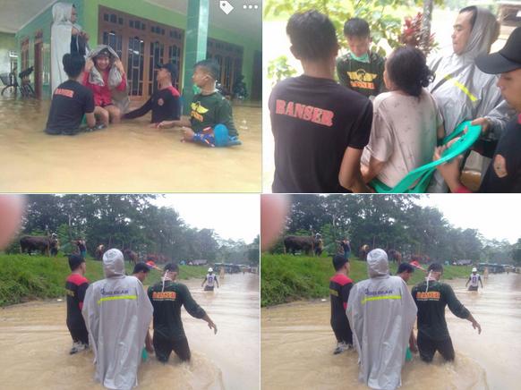 banser menolong korban bencana alam