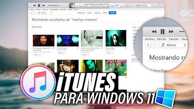 instalar itunes windows 11