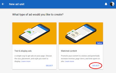 how-to-add-matched-content-adsense-ad-unit-in-blogger-blog