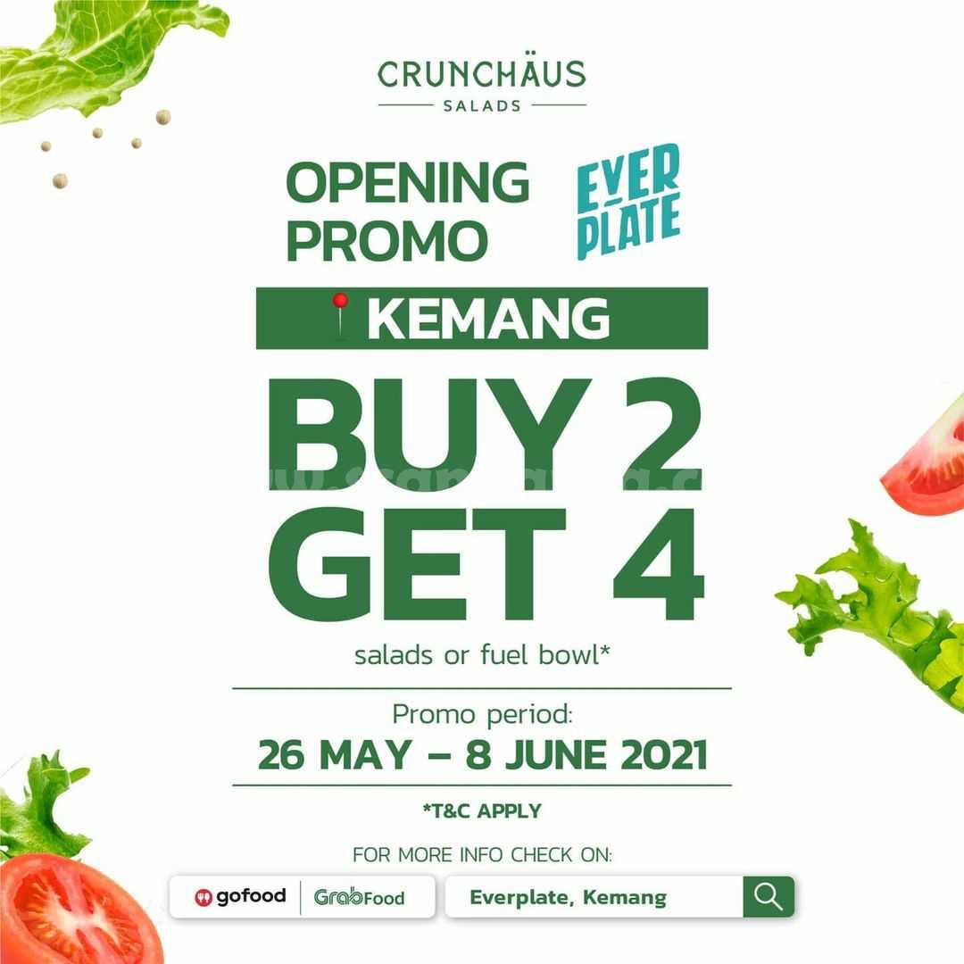 Crunchaus Opening Promo Everplate Kemang - Buy 2 Get 4 salads or Fuel Bowl
