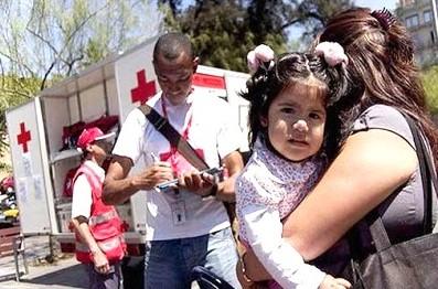 Foto de personal de la Cruz Roja