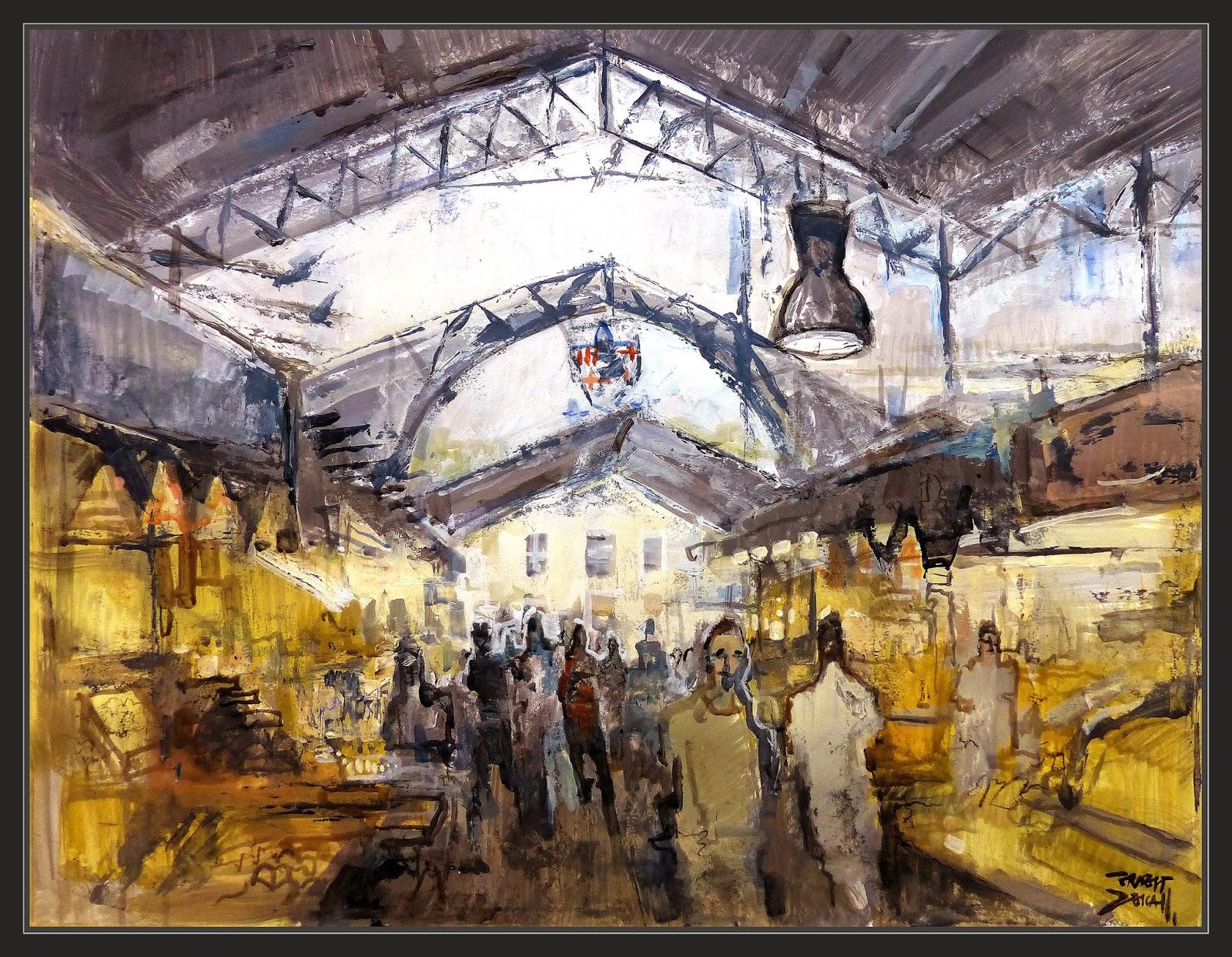 Ernest descals artista pintor mercat de la boqueria - Trabajo de pintor en barcelona ...