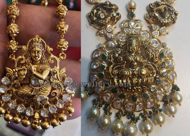 Lakshmi and Krishna Pendant Sets
