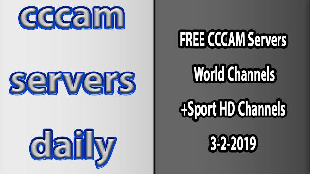 FREE CCCAM Servers World Channels +Sport HD Channels 3-2-2019