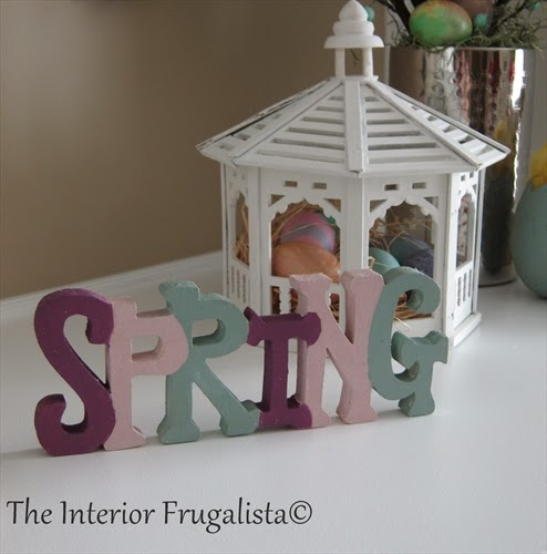 Block Letter Word for our Spring Mantle under $10.00!