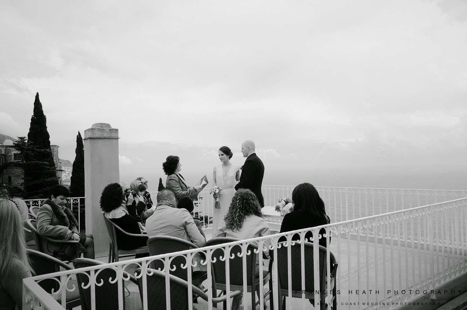 Wedding ceremony in Positano