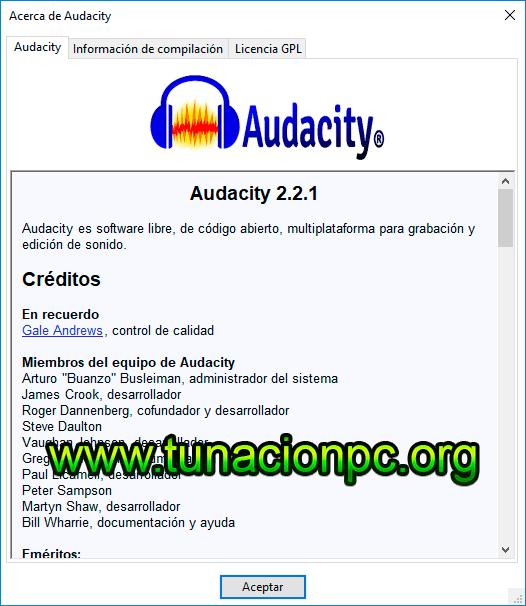 Descargar Audacity Portable, Editor de Audio Profesionales  Imagen