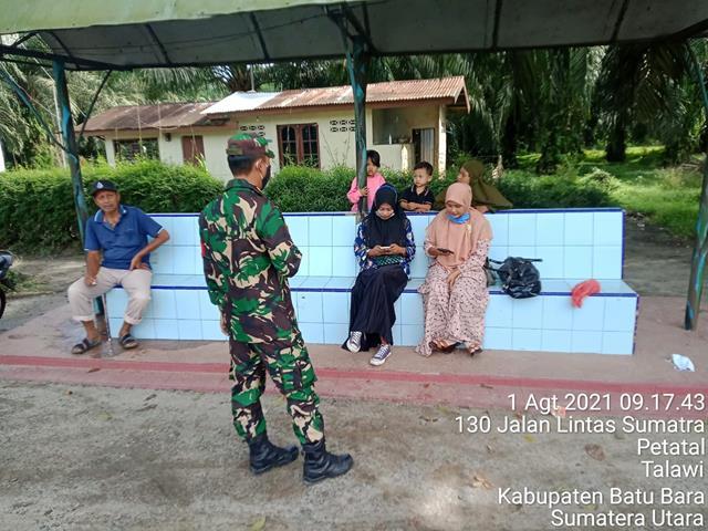 Jalin Silaturahmi Bersama Dengan Masyarakat Binaan Personel Jajaran Kodim 0208/Asahan Laksanakan Komunikasi Sosial