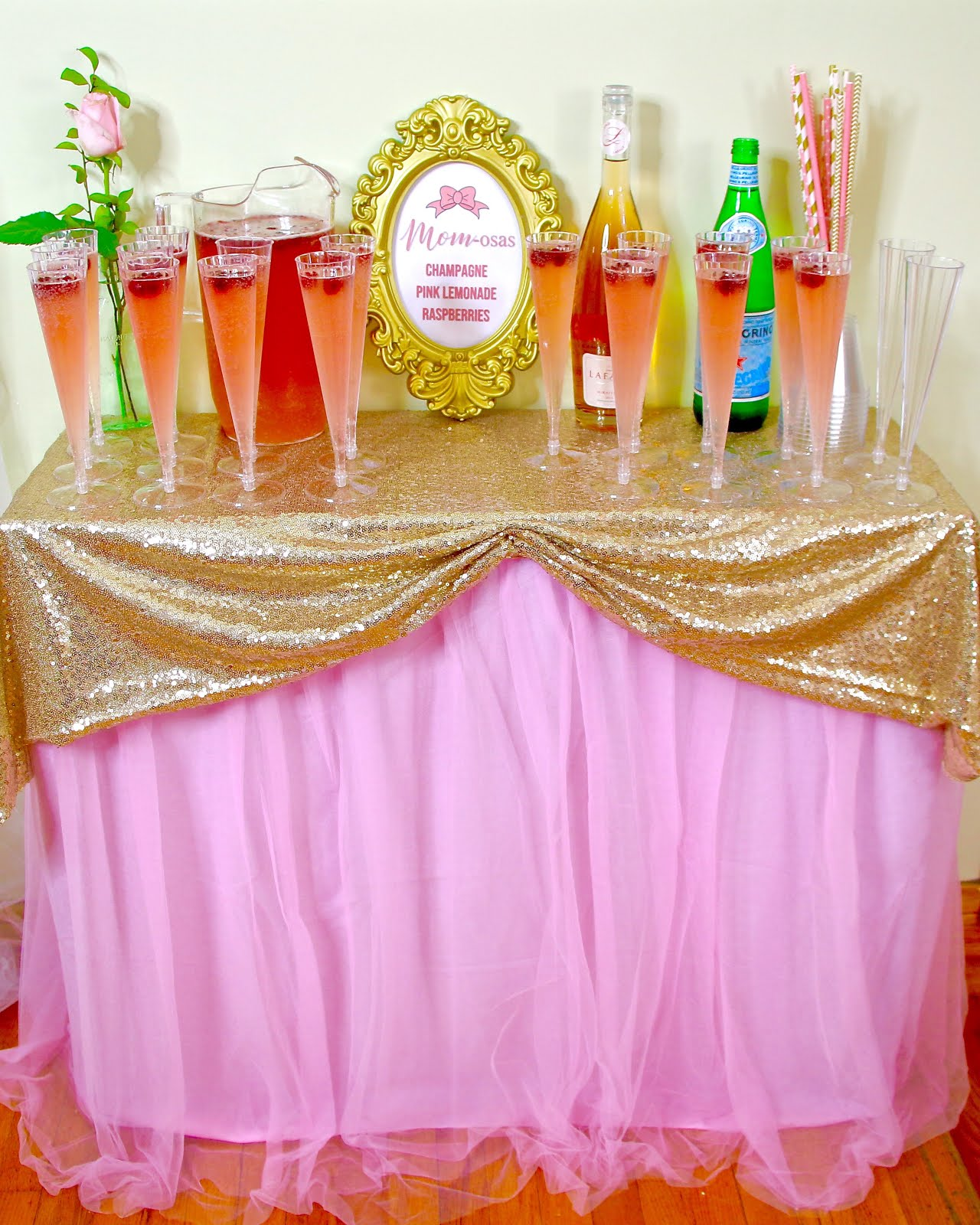 Video Diy Pink Amp Gold Girl Baby Shower On A Budget